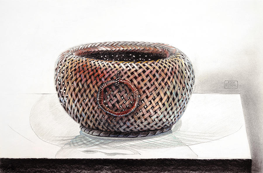 chinese basket drawing by