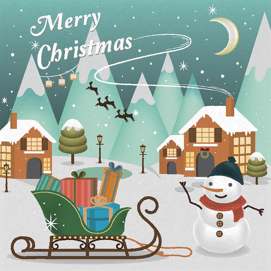 christmas scenery by joyimage