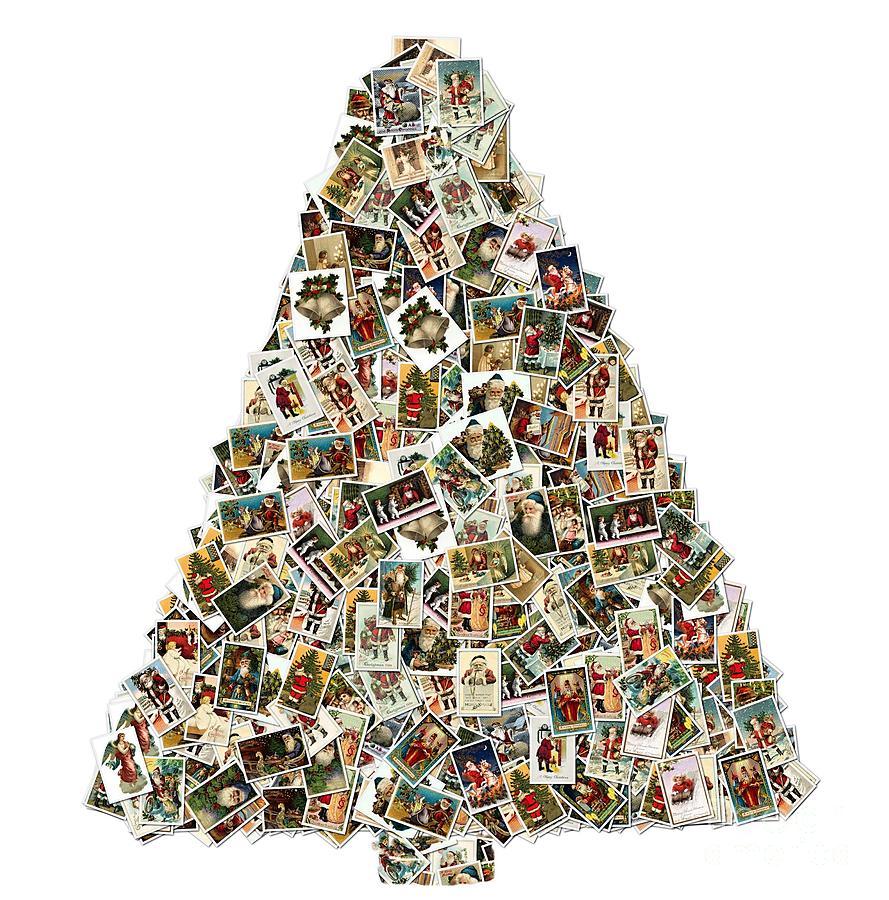 Christmas Tree Vintage Collage Photograph By Robert Burns