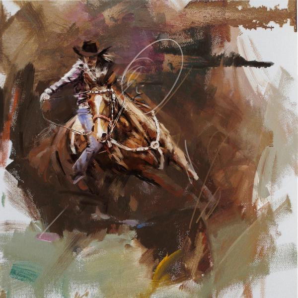 Classic Rodeo 8 Painting Maryam Mughal
