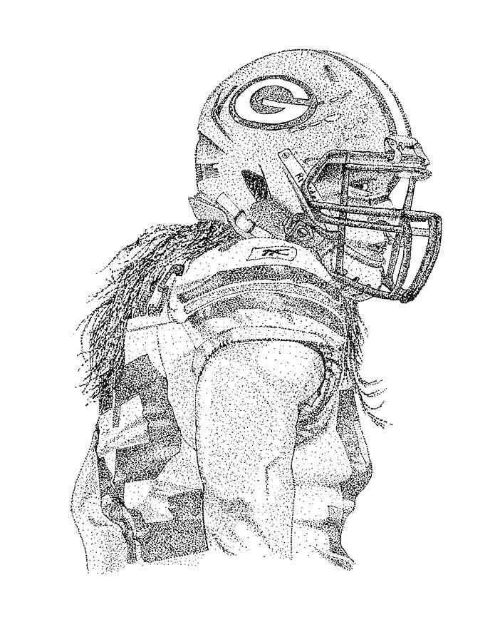 Clay Matthews Drawing by Joe Rozek