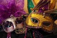 Colorful Mardi Gras Masks Photograph by Sheila Kay McIntyre