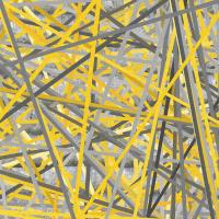 Connection - Yellow And Gray Wall Art Painting by Lourry ...