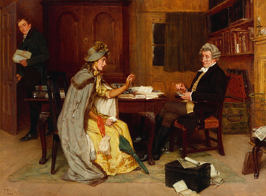 Consulting Her Lawyer Painting By Frank Dadd