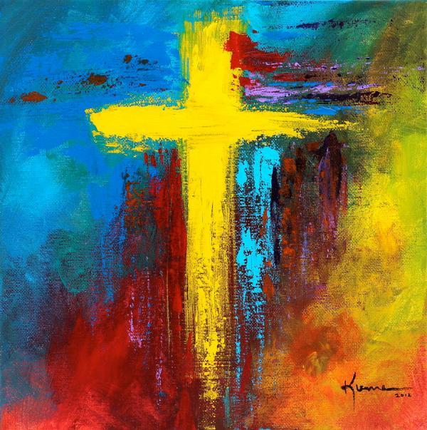 Christian Cross Art Painting