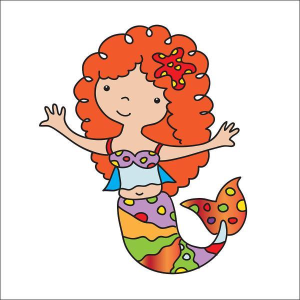 Cute Mermaid Illustration Digital Art Svetlana Peskin