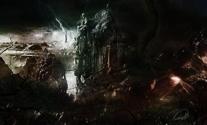 fantasy castle dark painting ayoob zainah paintings 3rd which april uploaded