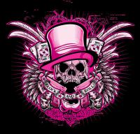 Dcla Skull Glock And Roll Pink Digital Art by David Cook ...