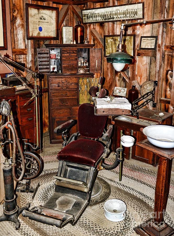 canvas beach chair vintage ekornes dentist - the photograph by paul ward