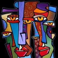Design Stars By Fidostudio Painting by Tom Fedro - Fidostudio