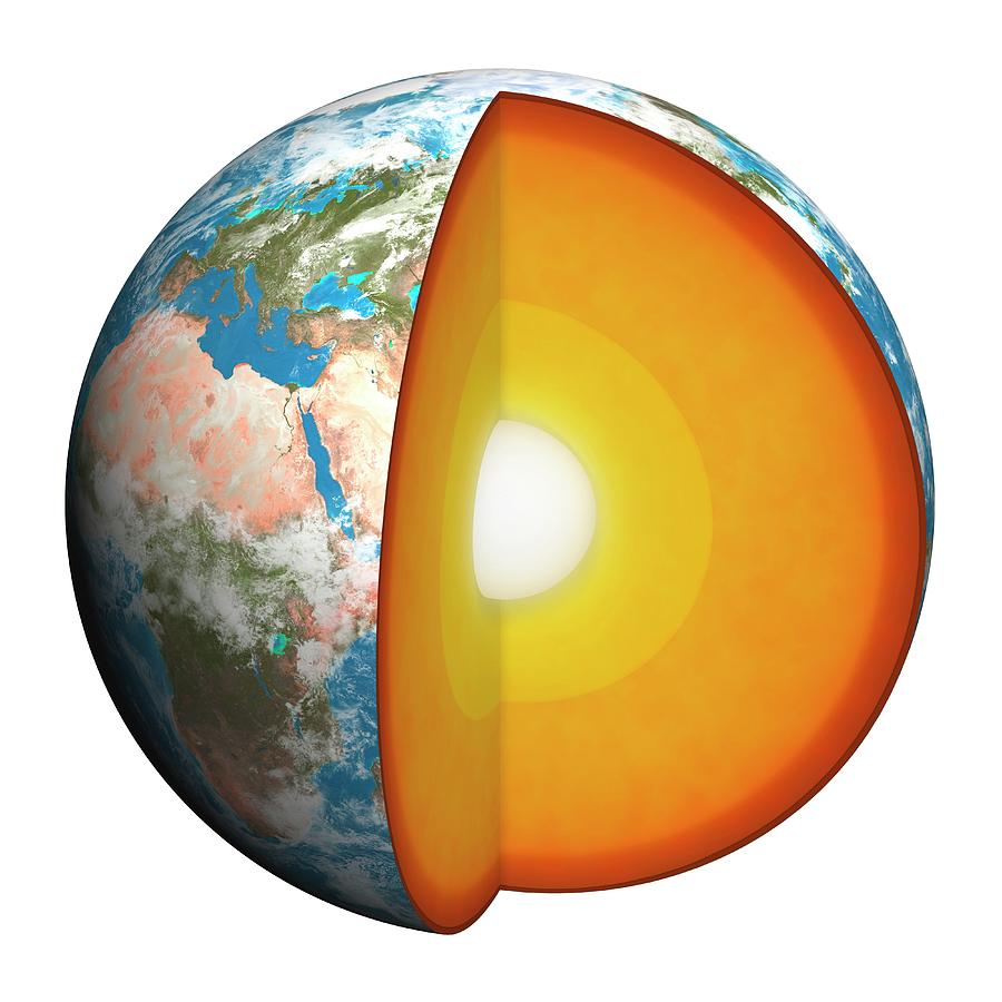 medium resolution of diagram showing interior of the earth