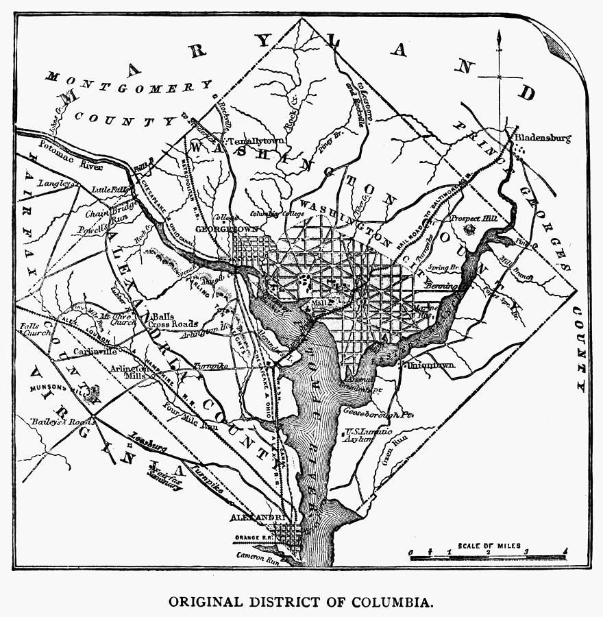 District Of Columbia, 1801 Photograph by Granger