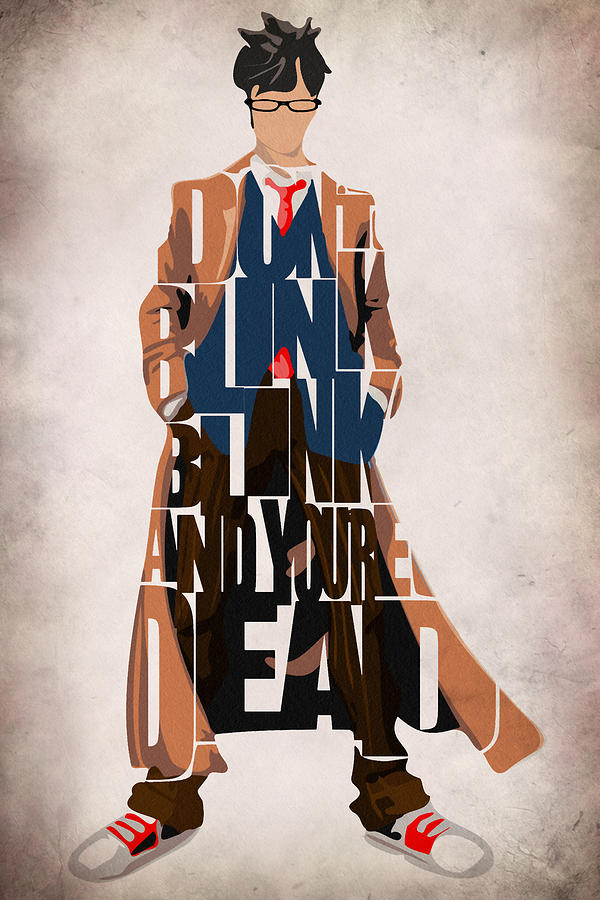 Tenth Doctor Iphone Wallpaper Doctor Who Inspired Tenth Doctor S Typographic Artwork