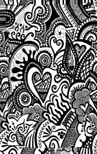 Doodle Art Phone Case Design Digital Art by Fli Art