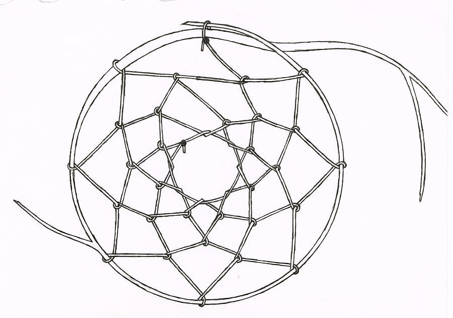 Dreamcatcher Drawing by Nancy Tellier