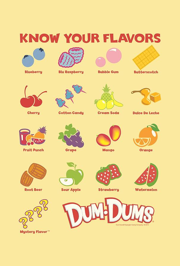How Many Dum Dum Flavors Are There : flavors, there, Flavors, Digital, Brand