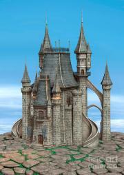 fairy tale castle digital art