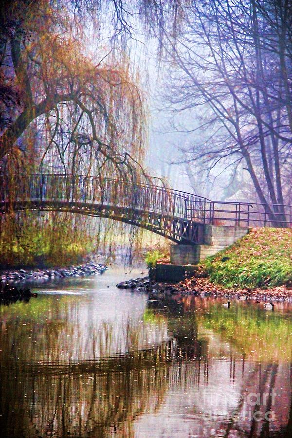 Fall Lights Iphone Wallpaper Fairytale Bridge Photograph By Mariola Bitner