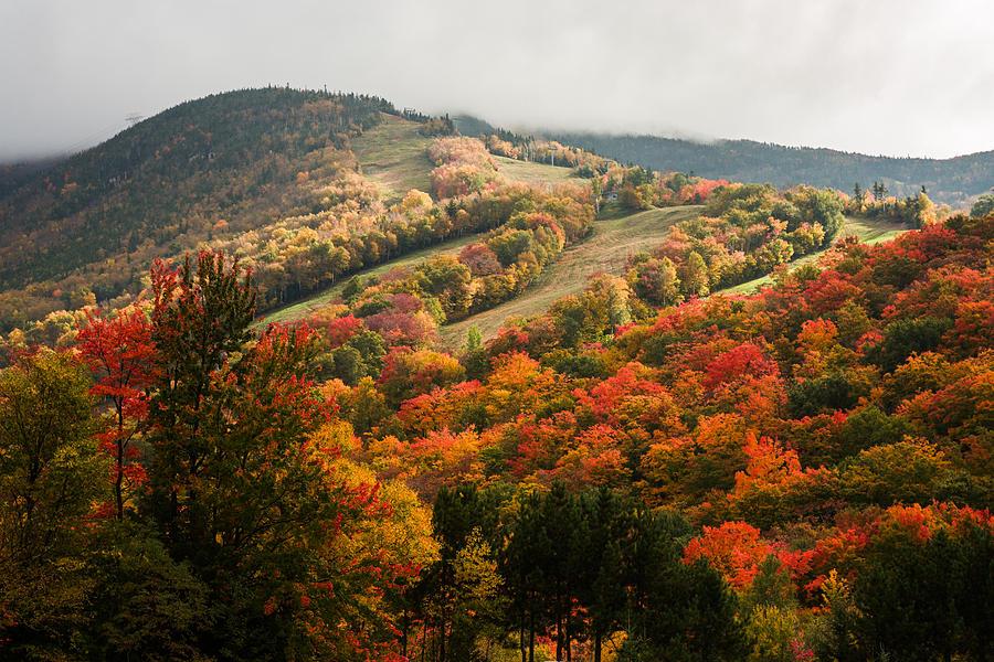 Upstate New York Fall Hd Wallpaper Fall Foliage On Canon Mountain Nh Photograph By Jeff Folger