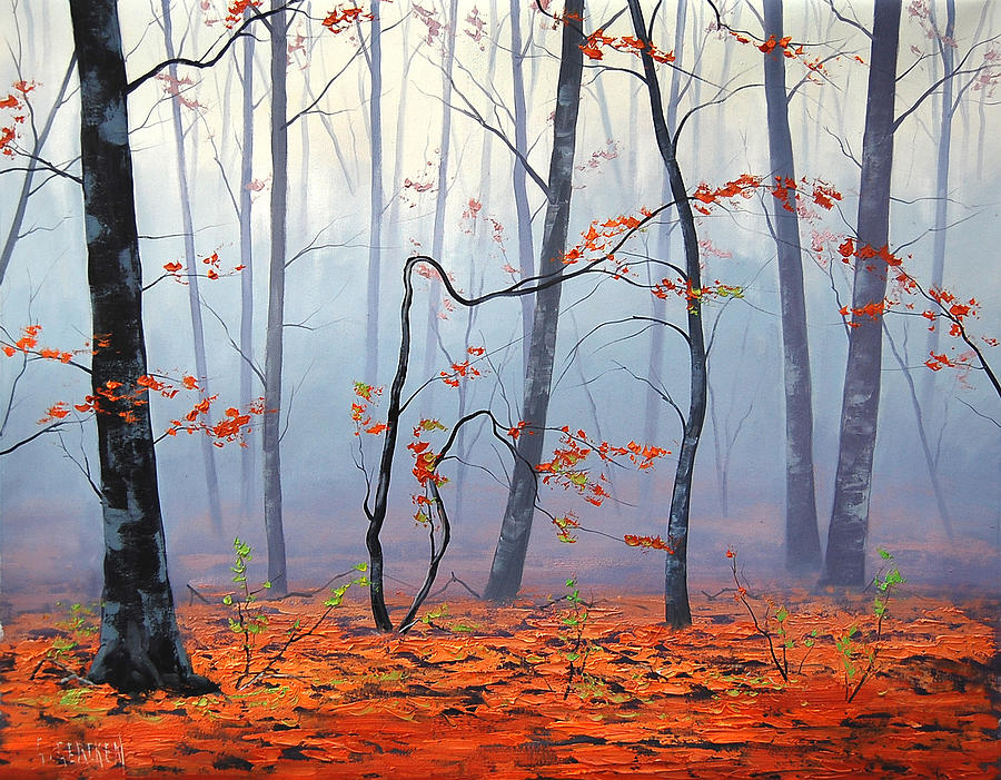 Fall Leaves Iphone 5 Wallpaper Fallen Leaves Painting By Graham Gercken