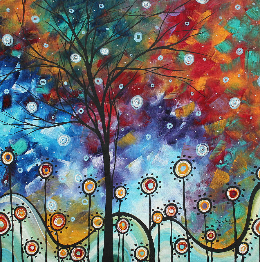 Field Of Joy By Madart Painting By Megan Duncanson
