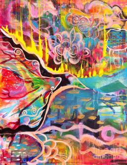 Fire of Transformation Painting by Kim Heil