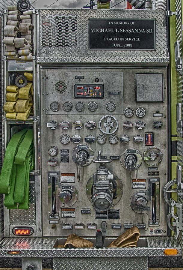 Fire Truck Pump Control Panel Photograph By Guy Whiteley