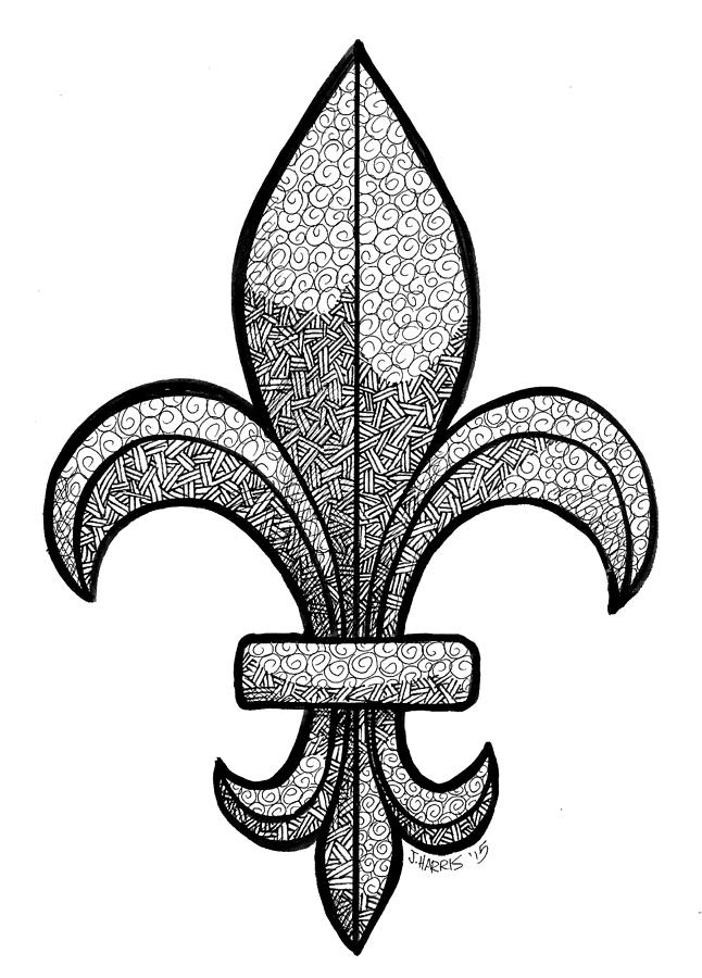 Fleur De Lis Drawing By Jim Harris