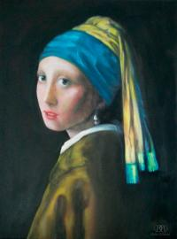 Girl With The Pearl Earring Reproduction Painting by Dylan ...