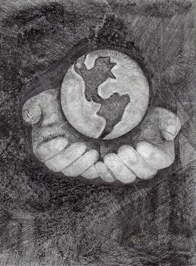 World In Hands Drawing : world, hands, drawing, Whole, World, Hands, Drawing, Milton, Rogers
