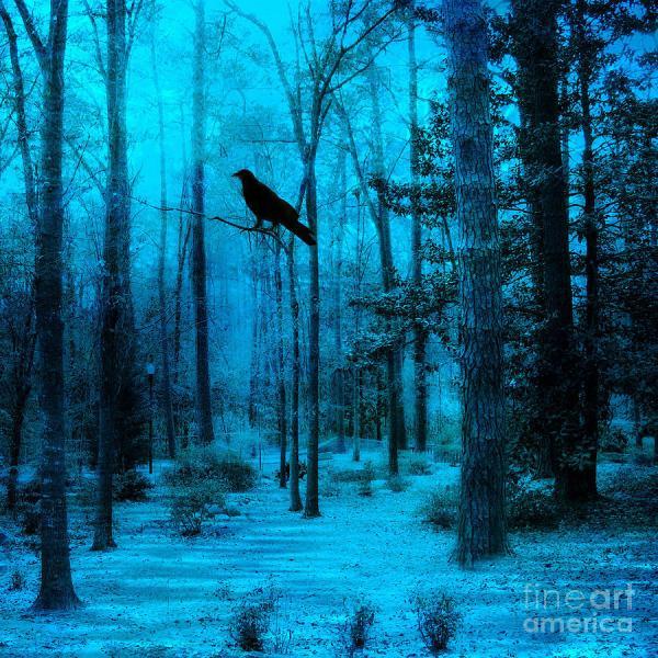 Dark Surreal Tree Paintings