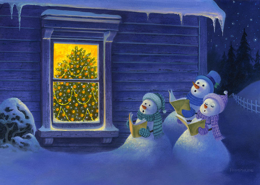Here We Come A Caroling Painting By Michael Humphries