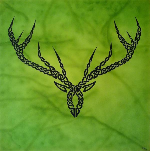 Celtic Knot Deer Antler Tattoo