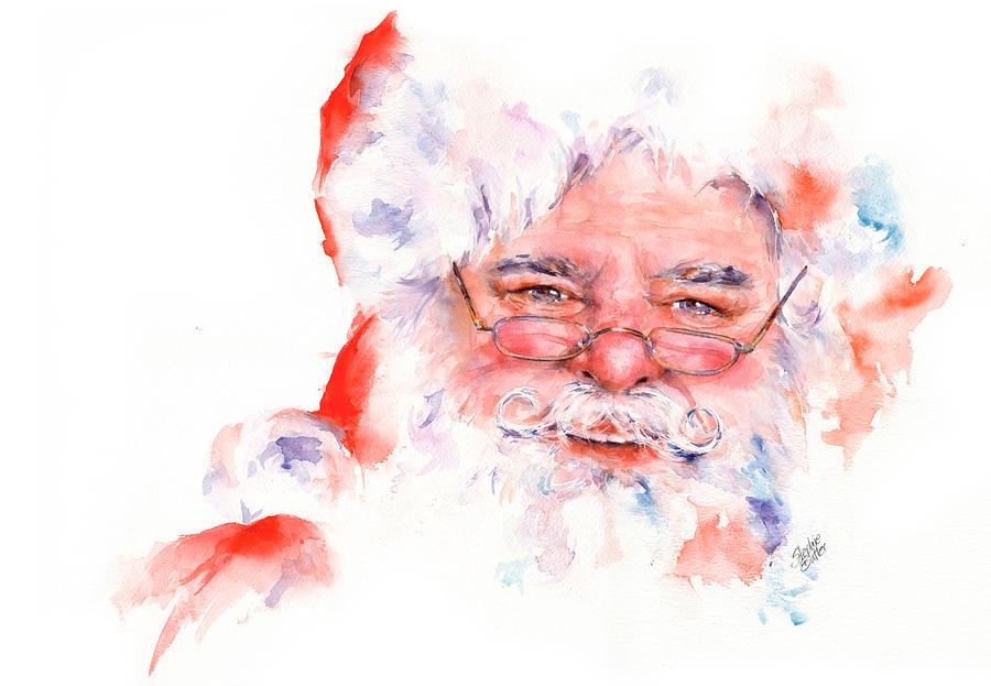 Ho Ho Ho Santa Painting By Stephie Butler