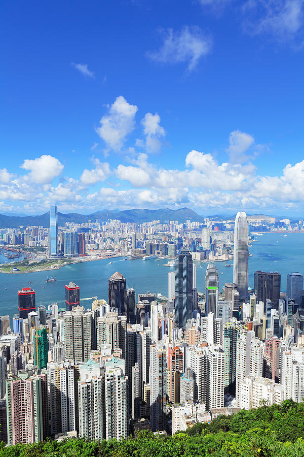 Hong Kong Daytime With Harbor Front by Ngkaki
