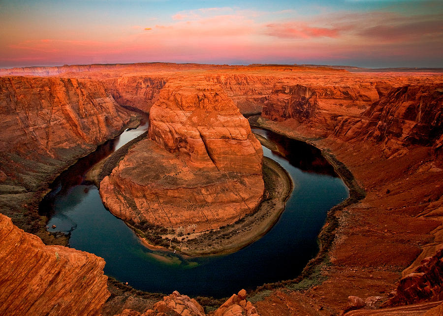 The famous Horseshoe bend of Colorado