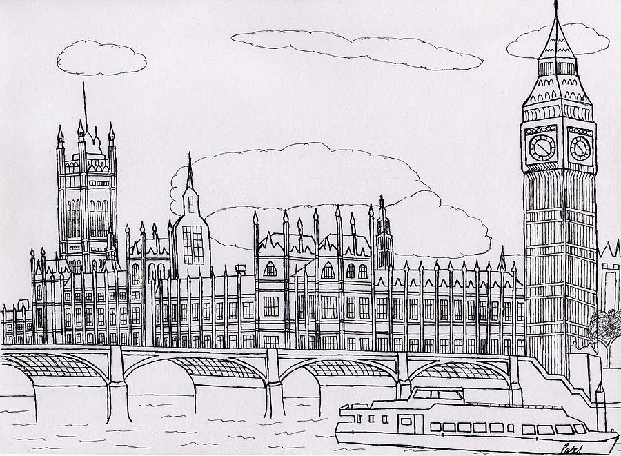 Houses Of Parliament Drawing by Bav Patel