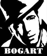 Humphrey Bogart Black And White Pop Art Digital Art by
