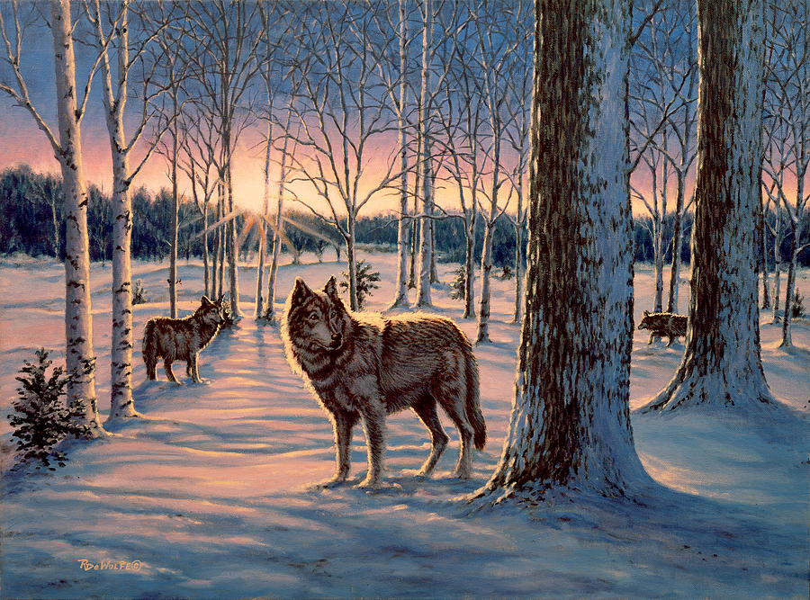 Hunters At Twilight Painting by Richard De Wolfe