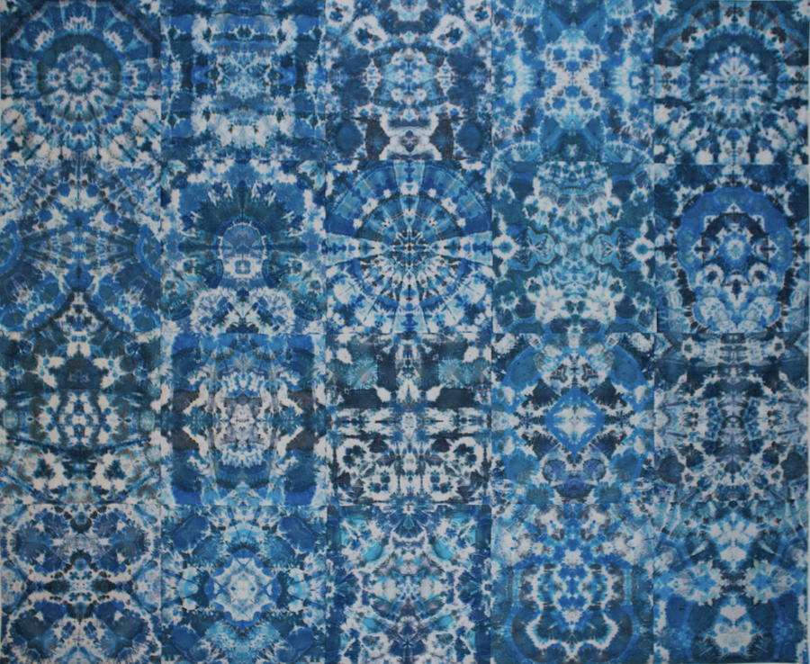 Jackson Pollock Iphone Wallpaper Indigo Dream Tapestry Textile By Courtenay Pollock