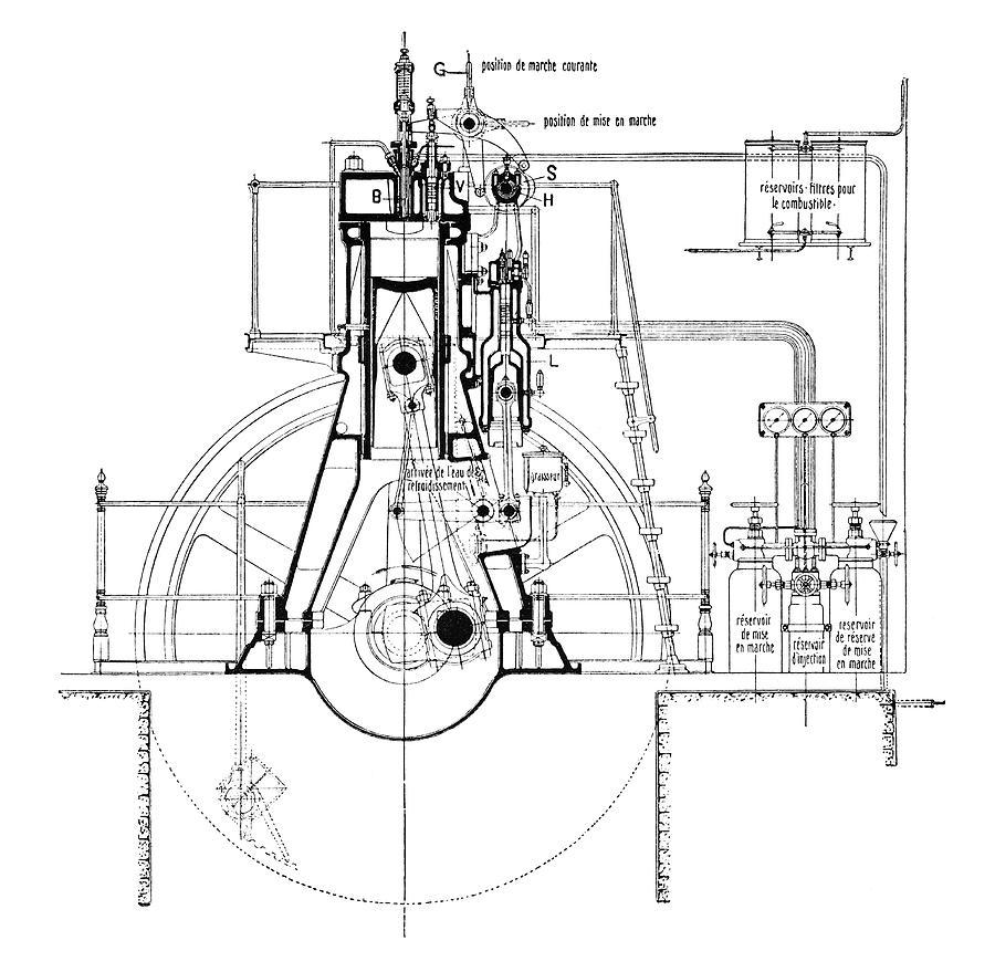 Rudolf Diesel Engine Diagram