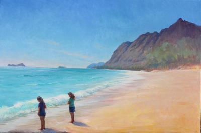Island Breeze Painting by Gwen Carroll