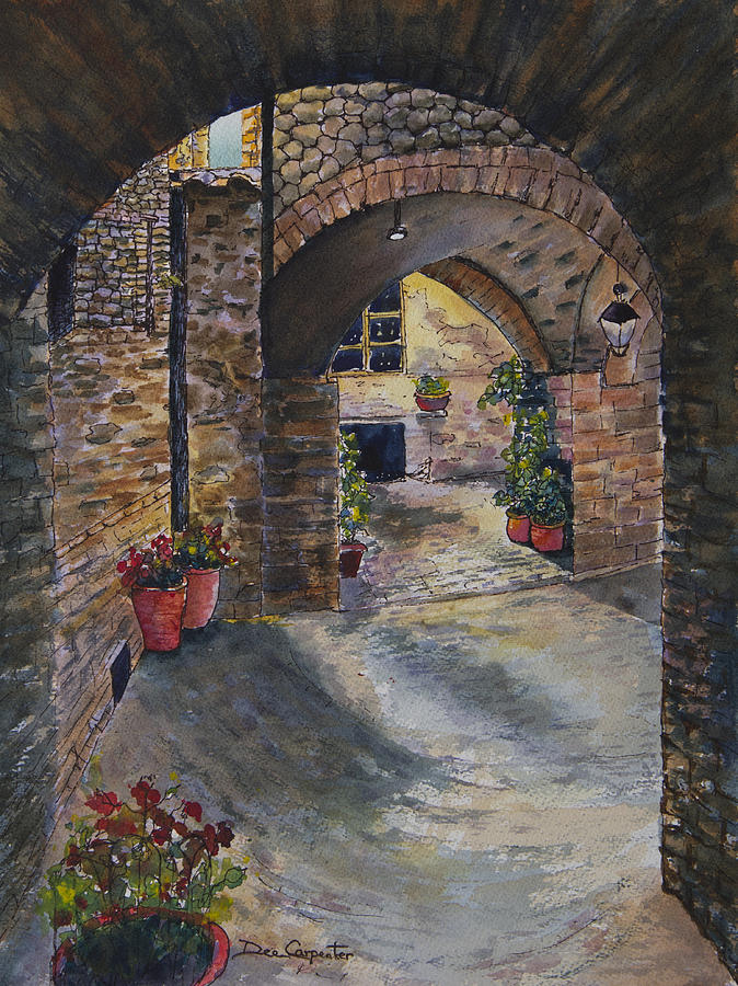 Italian Arches Painting by Dee Carpenter