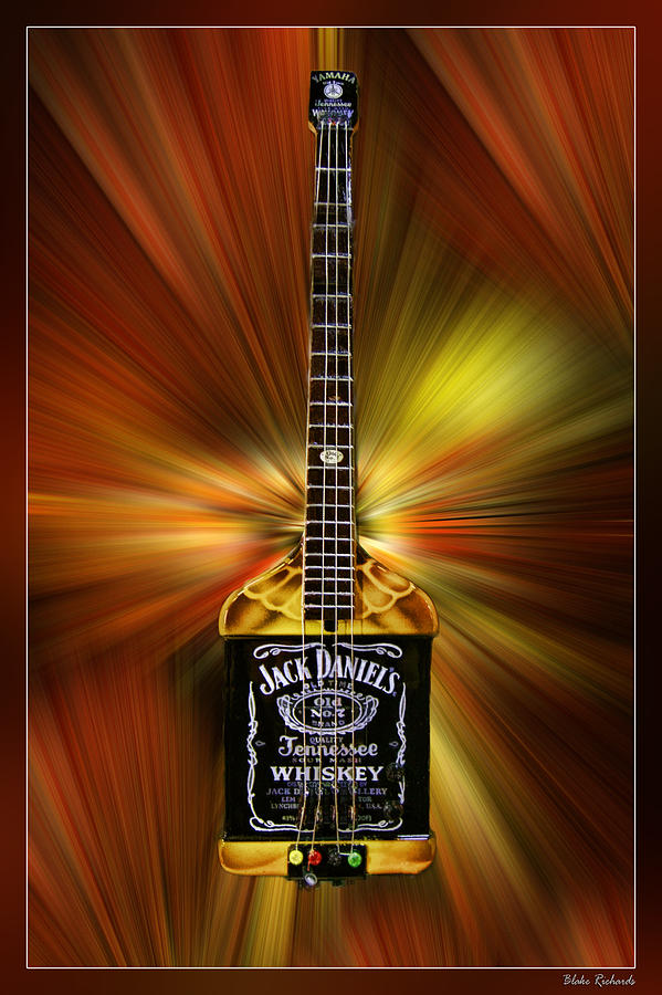 Jack Daniels Whiskey Guitar Photograph By Blake Richards