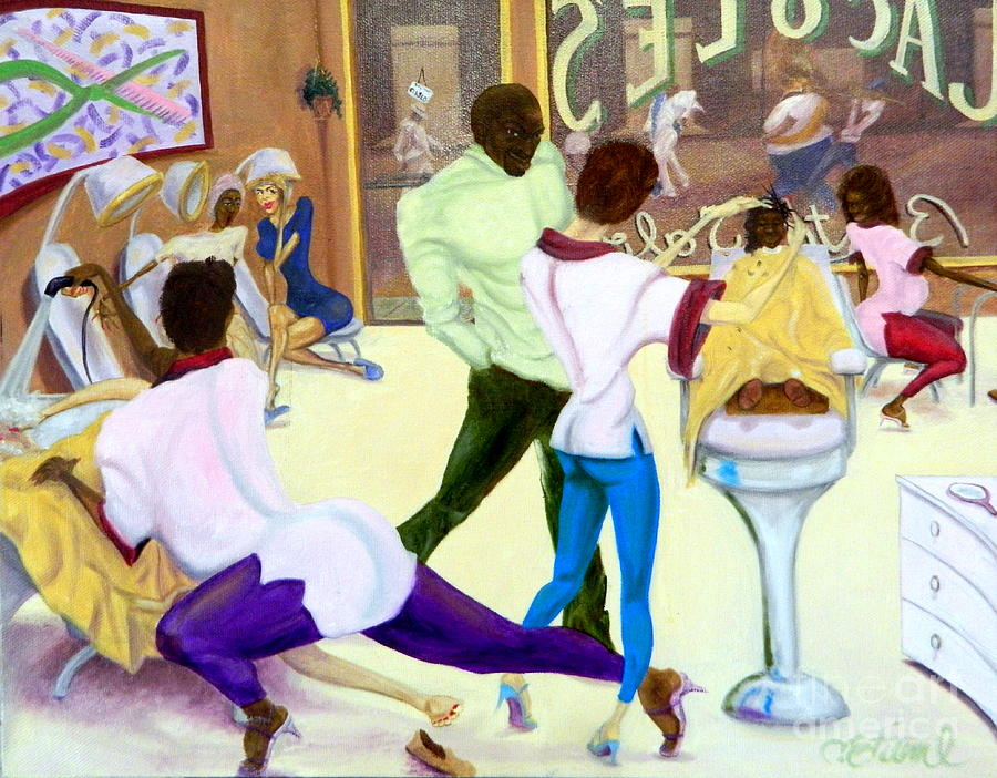 Jacoles Beauty Salon Painting by Clifford Etienne