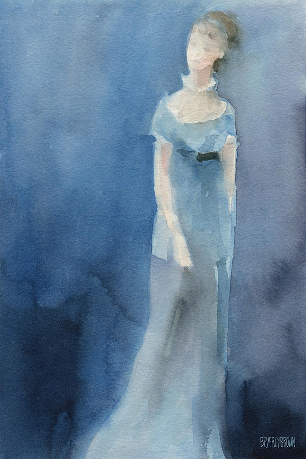 Jane Austen Watercolor Painting Art Print Painting by