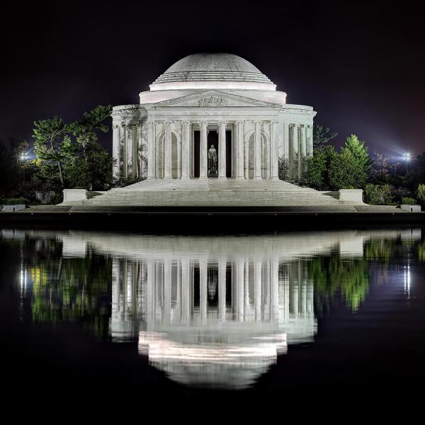 Jefferson Memorial - Night Reflection Metro Dc