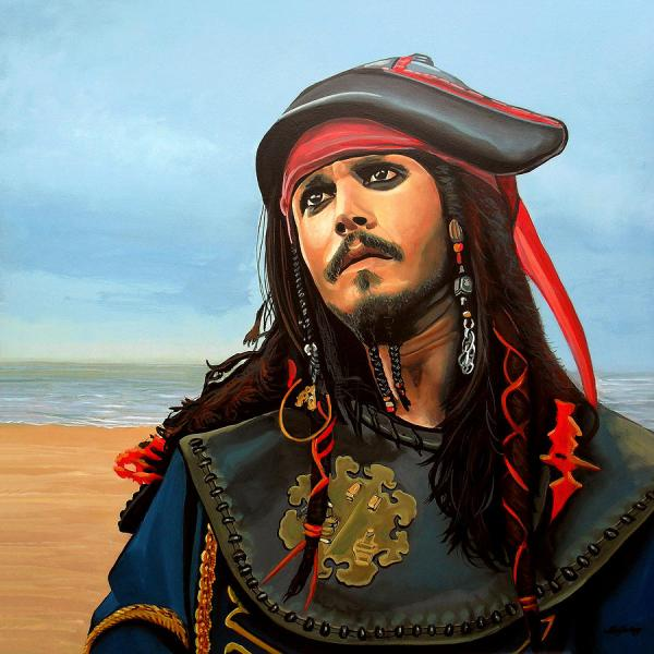 Johnny Depp Jack Sparrow Painting