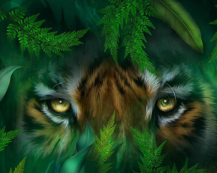 Tiger Mixed Media By Carol Cavalaris