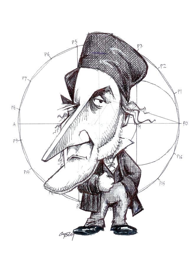 Karl Friedrich Gauss, Caricature Photograph by Science